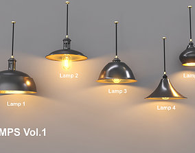 Sealing Lamp Vol1 3D asset