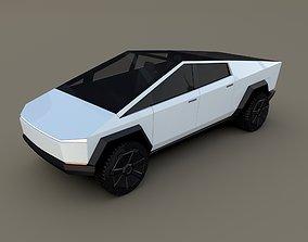 Tesla Cybertruck White 3D