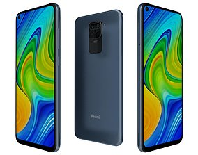 Xiaomi Redmi Note 9 Blue 3D