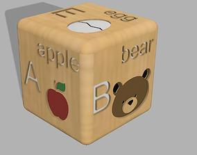 Cubes with alphabet 3D print model cubes
