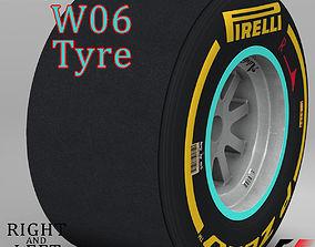 W06 Soft rear tyre 3D model