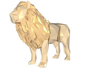 Polygonal Lion King 3D printable model