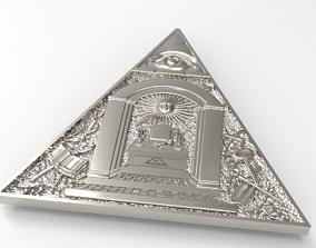 masonic pendant without hole 3d