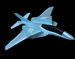 F22-Fighter Jet Sci-Fi 3D asset