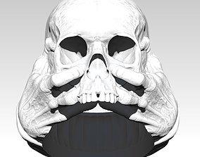 Scary Hands Human Skull Ring 3D print model
