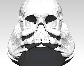 3D print model Scary Hands Human Skull Ring