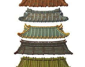 3D model Asian Modular Roof Set