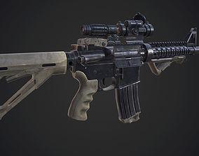 3D asset M4a1 - Game mesh