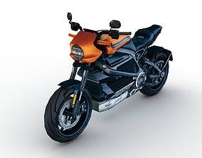 3D asset Low Poly Harley Davidson LiveWire