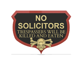 3D print model No Trespassers door crest