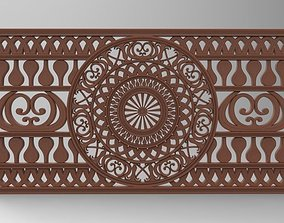 PATTERN BED HEADBOARD PERFORATED 3D print model