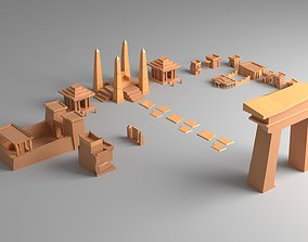 Egypt Old Style City Low Poly 3D