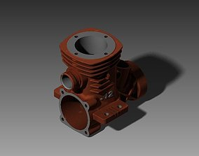 Engine Case Rear 3D printable model mechanical