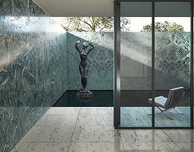 3D model Mies van der Rohe Barcelona Pavilion