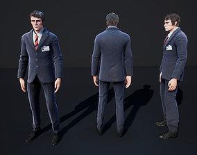 Man Character Casual Suit 3D asset