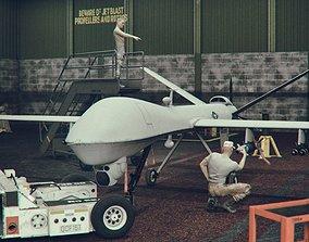 plane 3D model Military Drone