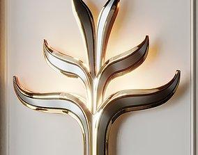 Set of Two Huge Brass by Richard Faure 3D model
