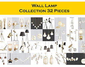 3D Wall Lamp Collection 32 Pieces industrial