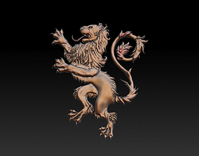 3D print model Heraldry Lion