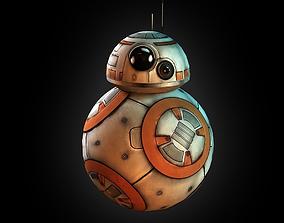 BB-8 droid 3D asset