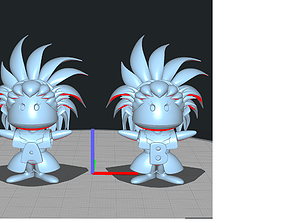 Little Washu A and B 3D print model