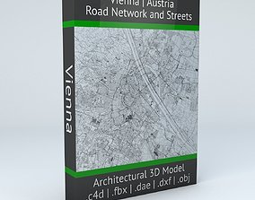 3D Vienna Road Network and Streets topological