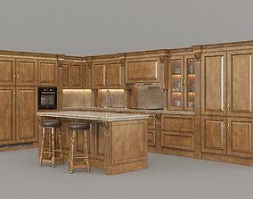 European Style Kitchen 2 3D