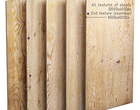 3D model Set of plywood sheets - 5 items