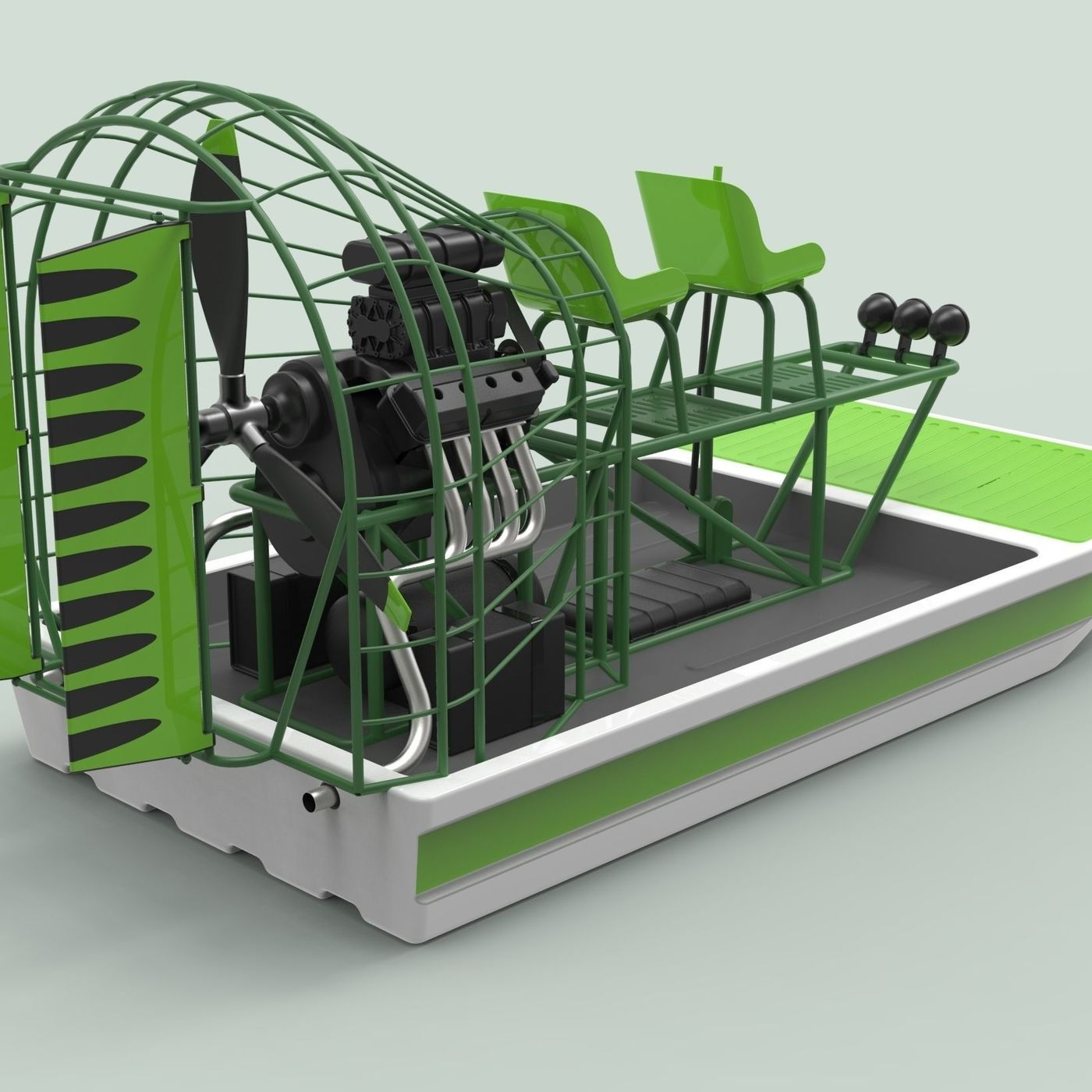 Airboat | CGTrader