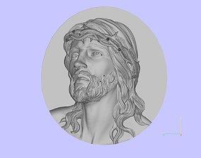 sculpture 3D print model jesus head