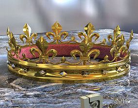 throne 3D Gold Crown