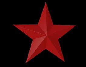 3D model 5 Point Star