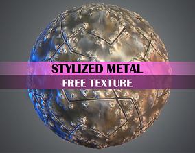Stylized Metal Texture 3D asset