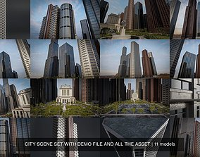 3D model CITY SCENE SET WITH DEMO FILE AND ALL THE ASSET
