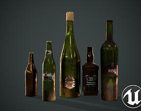 Bottles 3D model PBR