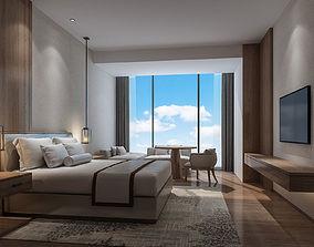 guest room bed 3D model