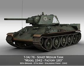 T-34-76 - Model 1942 - Soviet medium tank - 57 Army
