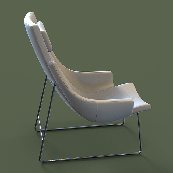 Inter Time 1282 830 Chair 3D Model
