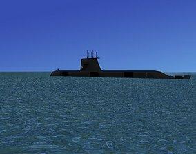 3D Collins Class HMAS Waller 75
