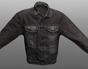Jeans Jacket Closed 3D model VR / AR ready