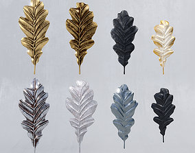 Decorative oak leaves 3D