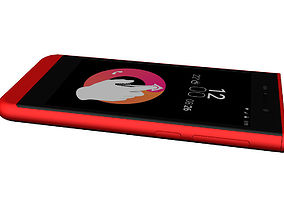 Obi Worldphone SJ1-5 RED customizable 3D model
