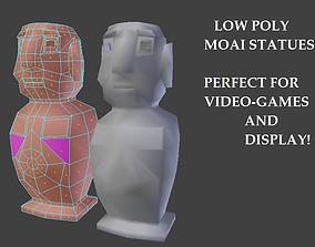 3D model Moai - Low-Poly Game Asset