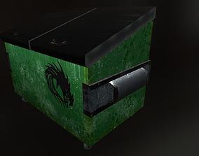 3D asset realtime Trash Dumpster