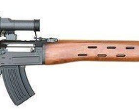 SVD Dragunov sniper rifle 3D model game-ready