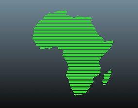 3D model Africa map symbols 1