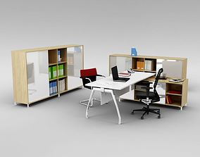3D Office Workspace With Furniture