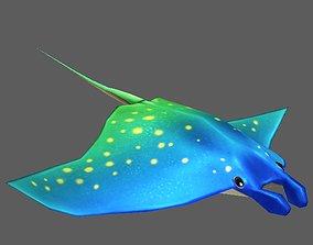 3D model animated Stingray