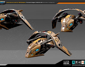 3D asset SF DRAKX Fighter DK7