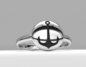 new fashion round sailor anchor jewelry ring printable